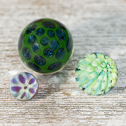 Swirl, Honeycomb, Bubble Implosion Marbles